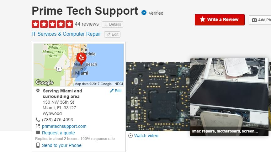 Prime Tech Support Yelp Reviews